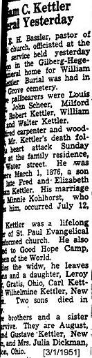 William C Kettler
