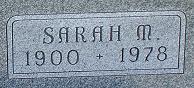 Sarah M <i>Duckworth</i> Webb