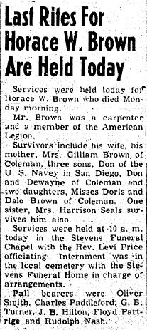 Horace Walter Brown