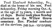Fred Eberhard Schoettley