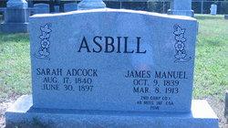 Sarah Ann Sally <i>Adcock</i> Asbill