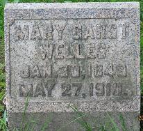 Mary <i>Garst</i> Welles