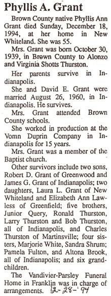 Phyllis Ann <i>Thurston</i> Grant