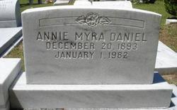Annie Myra <i>Jones</i> Daniel
