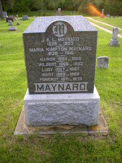 Maria J <i>Kimpton</i> Maynard