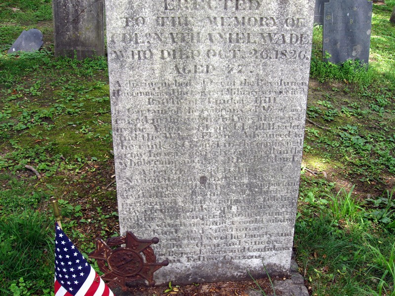 Tombstone of Nathaniel Wade