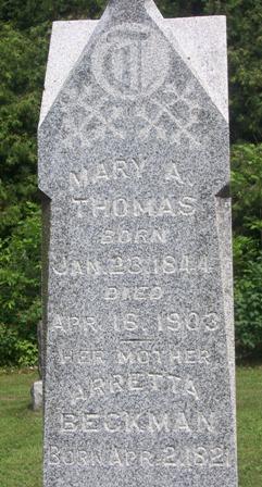 Mary Ann <i>Hobby</i> Thomas