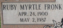 Ruby Myrtle <i>Fronk</i> Hall