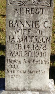 Bannie O <i>Carter</i> Anderson