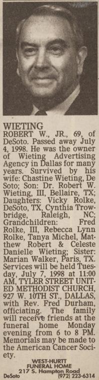Robert William Bob Wieting, Jr