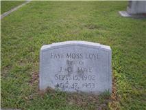 Faye <i>Moss</i> Love
