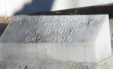 Annie <i>Pearson</i> Brown