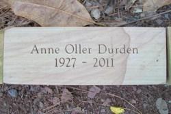 Anne <i>Oller</i> Durden