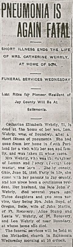 Catherine E. <i>Lemasters</i> Wehrly