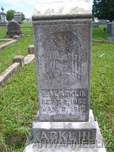 Sarah M. <i>Nunley</i> Acklin