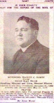 Rev Fr Francis C. Barry
