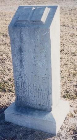 Anna Mary Annie <i>Masters</i> Bickham - Stansbury
