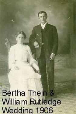 Bertha Henrietta <i>Thein</i> Rutledge