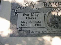 Eva May <i>Davis</i> Baker