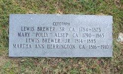 Martha Ann <i>Herrington</i> Brewer