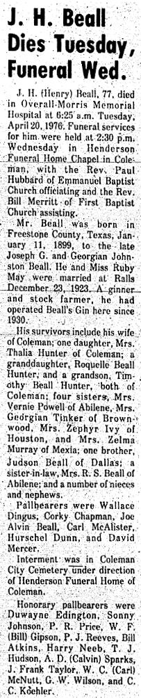 Joseph Henry J. H. Beall