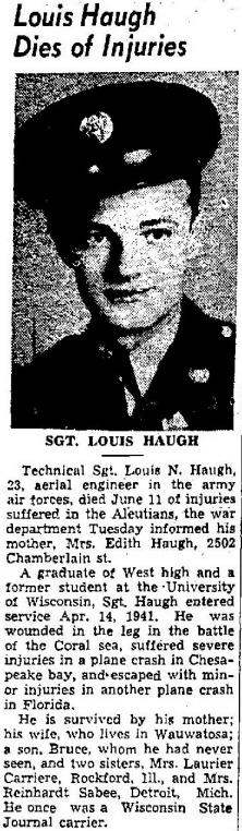 Sgt Louis N Haugh
