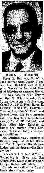 Byron E Dershem