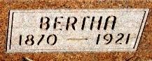 Bertha <i>Zillman</i> Beyer
