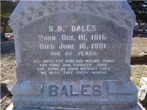 Maj Samuel Blue Bales, I