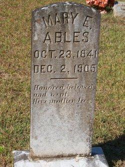 Mary E. <i>Thornton</i> Ables