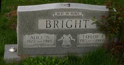Alice Nell <i>Raisor</i> Bright