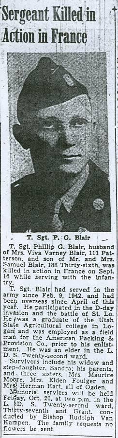 TSgt Philip G Blair