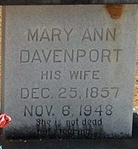 Mary Ann <i>Davenport</i> Cason