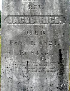 Rev Jacob Rice