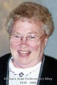 Barbara Jean <i>Schroeder</i> Alley
