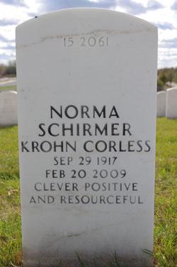 Norma Schirmer <i>Krohn</i> Corless