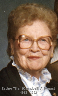Esther Laura Sis <i>Campbell</i> Arbogast