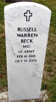 Sgt Russell Warren Beck