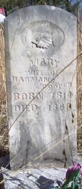 Mary Polly <i>Adkins</i> Cooper