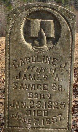 Caroline Jane <i>Bagwell</i> Savage