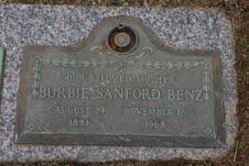 Burbie Moore <i>Sanford</i> Benz