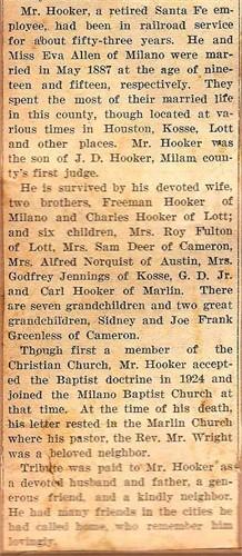 George Daniel Hooker, Sr