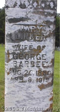 Mary <i>Linker</i> Barbee