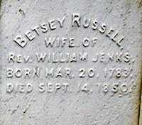 Betsey <i>Russell</i> Jenks
