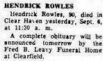 Hendrick Rowles