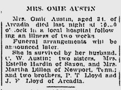 Oma E. <i>Loyd</i> Austin