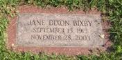 Jane <i>Dixon</i> Bixby