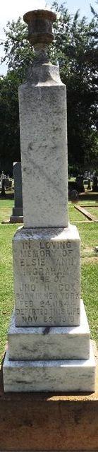 Elsie Anne Etta <i>Ingraham</i> Cox