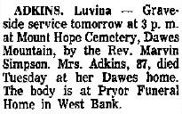 Luvina <i>Keffer</i> Adkins