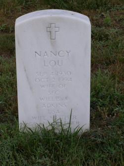 Nancy Lou <i>Burton</i> Adkins